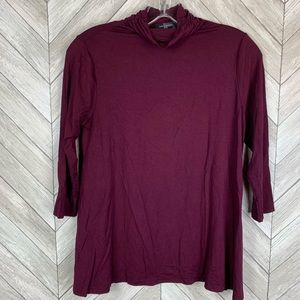 The Limited petite top. Burgundy wine color